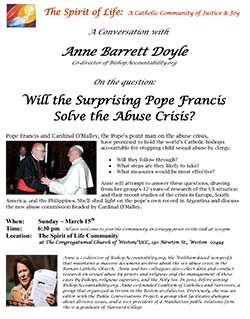 Anne Barrett Doyle flyer